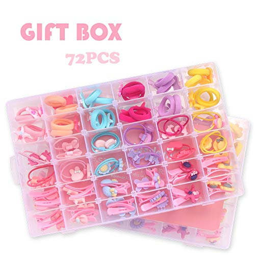 (NeWisdom hair accessories kit, Great gifts for little girls toddlers ages 3+ 4 5 6 7 8 year old - 72)