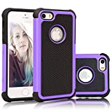 iPhone 5S Case, iPhone 5 Case, BAROX Hybrid Dual Layer Shock Absorbing Armor Defender Protective Case Cover (Hard Plastic with Soft Silicon) for Apple iPhone 5 5S