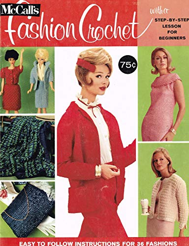1965 McCalls Fashion Crochet Magazine Patterns for Dresses Jackets Barbie ()