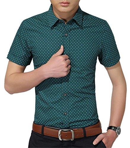 mens 100 cotton short sleeve dress shirt - 3