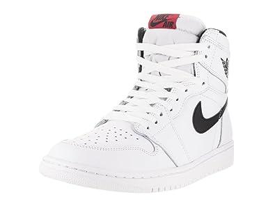 premium selection d6262 d1201 Nike Air Jordan 1 Retro High OG 555088-102 White Black Leather Men s Shoes