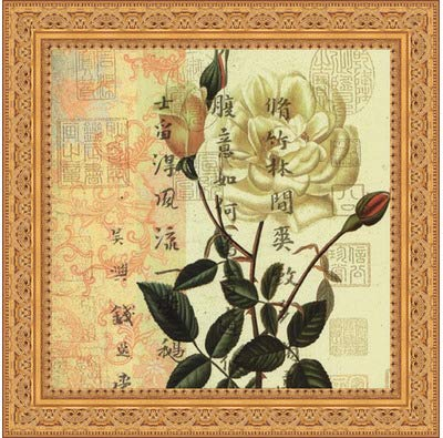 2c549769e45 Image Unavailable. Image not available for. Color  Framed Rose- 12x12 Inches  - Art Print (Ornate Gold Frame)
