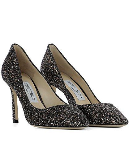 Jimmy Choo Mujer ROMY85IDFBRONZEMIX Marrón Cuero Zapatos Altos