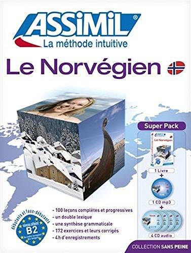 Assimil Language Courses - Le Norvegien sans Peine (Norwegian for French Speakers) Book and 4 Audio Compact Discs
