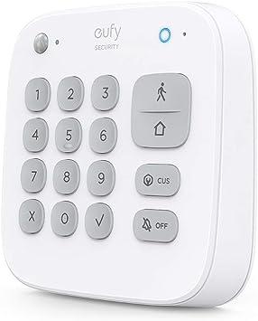Teclado de seguridad eufy para el PIN, sistema de vigilancia inalámbrico inteligente con alarma de robo, 180 días de duración de la batería, modo Home ...