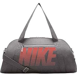 NIKE Women's Gym Club Training Duffel Bag (One_Size, Atmosphere Grey/Atmosphere Grey/Rush Coral)