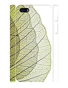 Fantastic Theme Smart Phone Case With Green Leaf Vein Pattern Snap On Case Cover for Iphone 5 5s by lolosakes