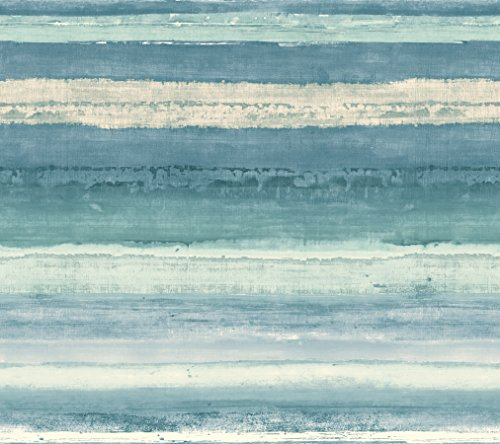 (York Wallcoverings Cloud Nine Perspective Removable Wallpaper, Blue/Green)