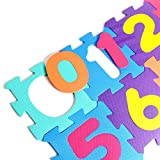 Numbers Rubber EVA Foam Puzzle Play Mat Floor. 10 Interlocking playmat Tiles (Tile:12X12 Inch/36 Sq.Feet Coverage). Ideal Crawling Baby, Infant, Classroom, Toddlers, Kids, Gym Workout
