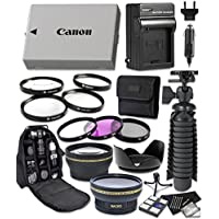 Canon EOS Rebel T2i, T3i, T4i, T5i Digital Cameras 14pc Accessory Bundle Includes LP-E8 Replacement Battery, AC/DC Worldwide Charger, Camera Backpack and More