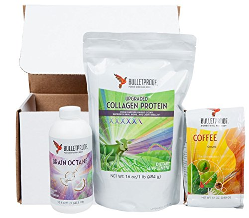 Bulletproof Brain Octane Oil (16 oz), Bulletproof Ground Coffee (12 oz) & Bulletproof Collagen Protein (16 oz) Bundle by Bulletproof