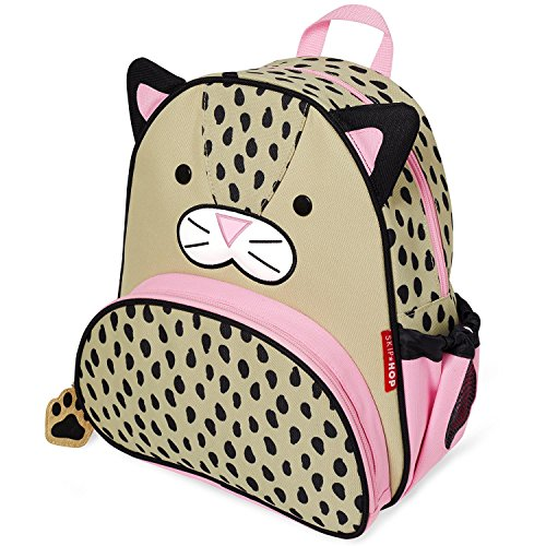 Skip Hop Toddler Backpack, 12' Leopard School Bag, Multi