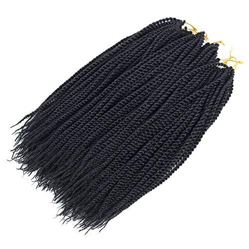Befunny 8packs 14 Senegalese Twist Crochet Hair Short Braids Small