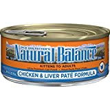 Natural Balance Chicken & Liver Paté Formula Wet Cat Food, 5.5-Ounce Can (Pack Of 24)