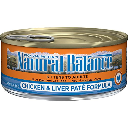 - Natural Balance Chicken & Liver Paté Formula Wet Cat Food, 5.5-Ounce Can (Pack Of 24)