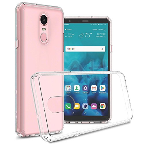 LG Stylo 4 Plus Clear Case, LG Stylo 4 Case, LG Q Stylus Case, CoverON [ClearGuard Series] Slim Fit Phone Cover with Clear Hard Back and TPU Bumpers for LG Stylo 4 / Q Stylus/Stylo 4 Plus - Clear (Lg Stylo Stuck On Metro Pcs Screen)