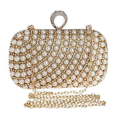 ab6562479c XZANTE Sac A Main pour Femme Sac de Soiree avec Paillettes Fausse Perle et  Diamants Mariage