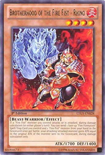 Yugioh Cards BROTHERHOOD OF THE FIRE FIST-BUFFALO LTGY RARE #