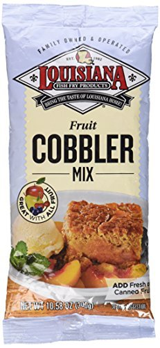 Louisiana Fish Fry Products, Cobbler Mix, 10.58oz Bag (Pack of 3) by Louisiana Fish Fry by Louisiana Fish Fry Products