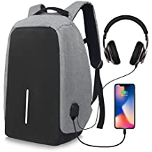 PORUARY Business Laptop Backpack 15.6 Inch Anti Theft Backpack with USB Charging Port Lightweight College Students Book Bag Water Resistant Computer Work Bag Men & Women for Notebook Macbook