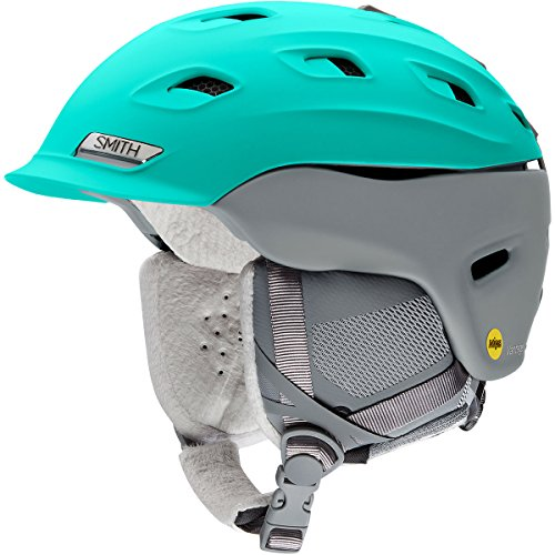 (Smith Optics Vantage-Mips Women's Ski Snowmobile Helmet - Matte Opal/Cloudgrey/Medium)