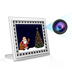 Home Hidden Camera Conbrov T10 720P Photo Frame Spy Camera with Night Vision and Motion Detection Covert Nanny Cam Video Recorder for Home and Office Security - No WiFi Function