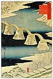 ArtPlaza TW93013 Hiroshige Utagawa - Snow Decorative Panel 27.5x39.5 Inch Multicolored