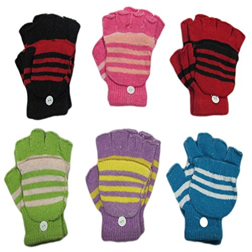 6-pack Magic Stretch Finger Less Gloves