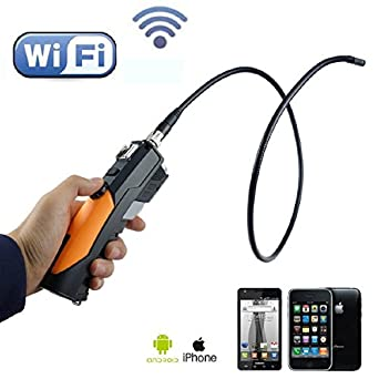 iphone inspection camera. vividia vn-wf200 wifi wireless 8.5mm flexible inspection camera borescope for iphone/ipad iphone e