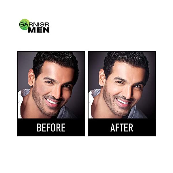 Garnier Men Power White Anti-Pollution Double Action Facewash, 100gm 2021 July First 2 in 1 texture Facewash Enriched with goodness of Charcoal & Clay Removes Dust & Pollution