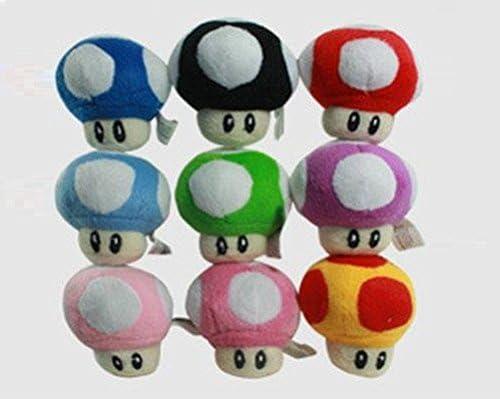 Amazon Com Super Mario Bros Plush 2 8 Inch 7cm Mushroom 9pcs