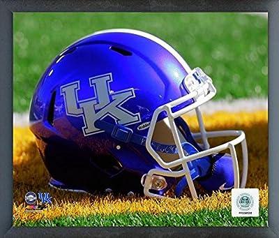 """Kentucky Wildcats NCAA Helmet Photo (Size: 17"""" x 21"""") Framed"""