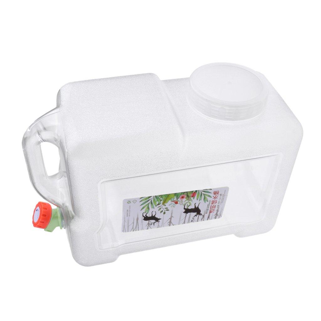 D DOLITY 1 Pieza Portador Contenedor de Agua Gasolina Emergencía Multiusos para Hogar Cocina - Blanco Claro