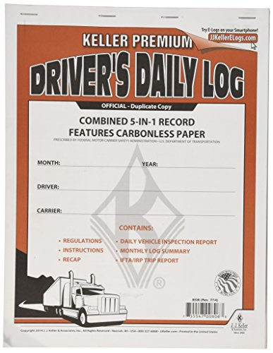 (J. J. Keller 8536 5-in-1 Driver's Daily Log Book)