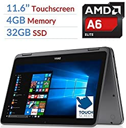 Newest Dell Inspiron 3000 2-in-1 Convertible Laptop Pctablet, 11.6 Led-backlit Touchscreen, 7th Gen Amd A6-9220e 2.5ghz Processor, 4gb Ddr4, 32gb Ssd, Bluetooth, Wifi, Maxxaudio, Windows 10
