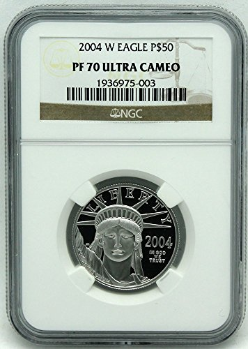 2004 W Platinum Eagle Proof $50 PF70 NGC