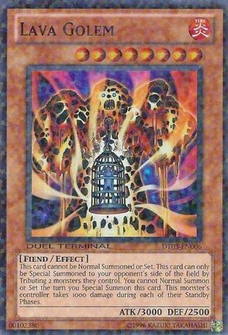 Yu-Gi-Oh! - Lava Golem (DT03-EN006) - Duel Terminal 3 - 1st Edition - Super Rare by Yu-Gi-Oh! ()