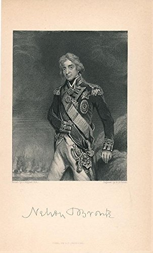 Nelson Bronte c.1850 fine antique engraved historical ()