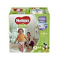 HUGGIES Little Movers Slip On Diaper Pants, Size 5, 64 Count