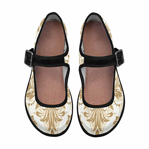 InterestPrint Mary Walking Casual 10 Shoes Comfort Womens Jane Multi Flats qrxEqOP