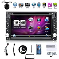 Hot selling product 6.2-inch Double DIN in Dash Car Dvd Player Car Stereo Touch Screen with Bluetooth USB Sd Mp3 Radio for Universal Car Free Backup Camera