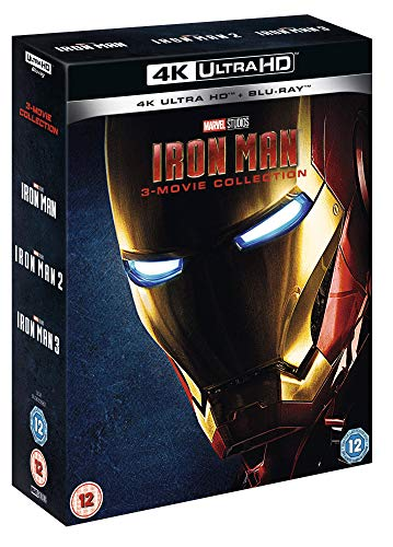Iron Man 4K UHD Trilogy [Blu-ray] [2019] [Region Free]