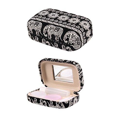 Mirror Contact Lenses (Ezeso Portable Travel Contact Lens Case Box Eye Care Kit Holder Mirror Box)