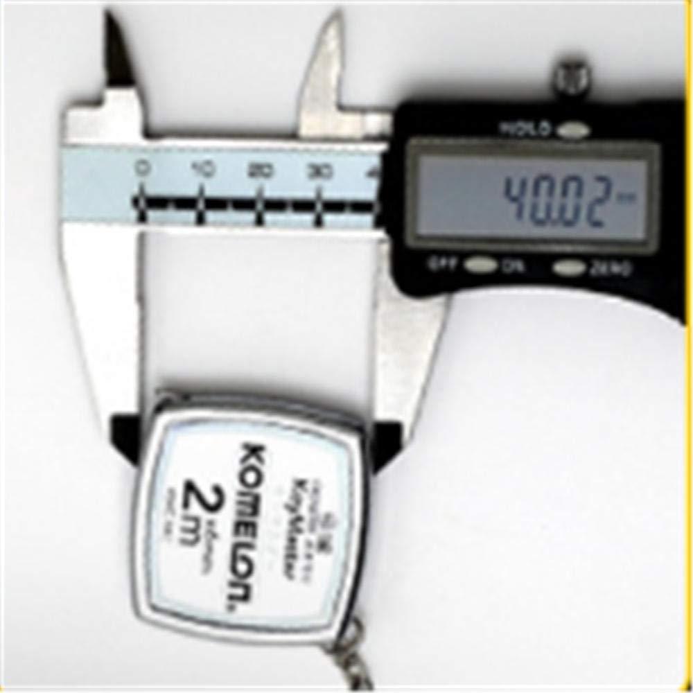 argent 2 m SAMMZN mini ruban /à mesurer en acier porte-cl/és portable