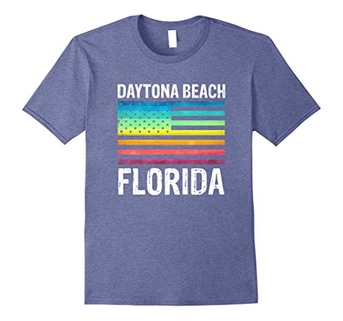 Mens Daytona Beach Florida Rainbow American Flag T-Shirt 3XL Heather - Shop To In Daytona Places Beach