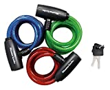 Master Lock Bike Lock/Cable Ka Asst Colors Red Blue Green Pack,Pack 3