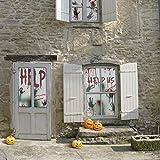 KD KIDPAR 6Pcs Halloween Window Door Decoration