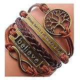 Best  - Jovana Fashion Retro PU Leather Alloy Bracelet Wristlet Review