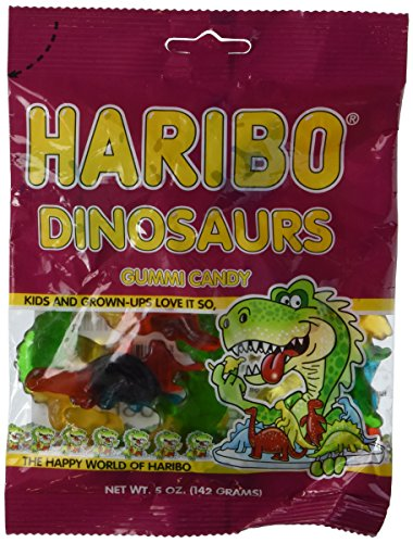 Haribo Dinosaurs Gummy Candy (5 oz Bag)