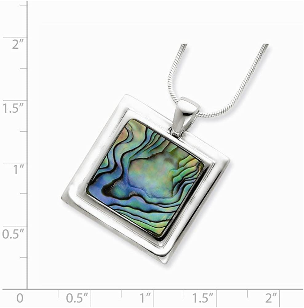 Goldia Sterling Silver Abalone Pendant Necklace